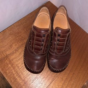 PIKOLINOS Brown Leather Loafer Shoes - Size 38